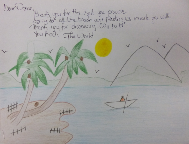 Dear Ocean, th grade, 2nd Place